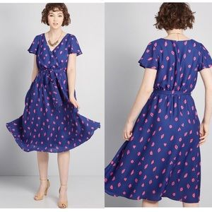 ModCloth fits of bliss short sleeve dress